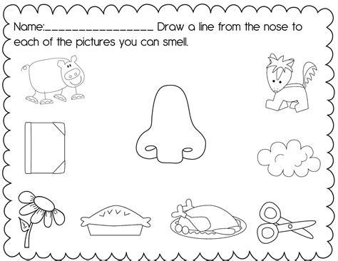 5 senses worksheets for kindergarten posted by christine
