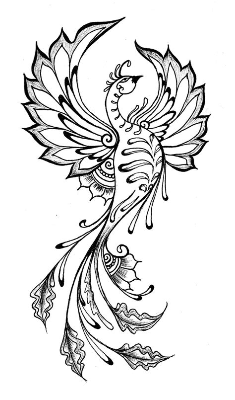 phoenix henna tattoo henna by kotogoddess on deviantart