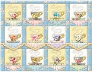 tea cup quilt quilting