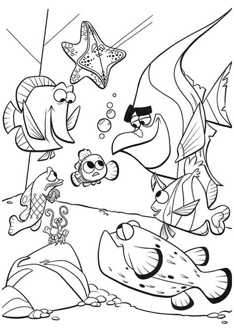 Nemo Coloring Pages Coloring Pages To Print Finding Nemo Coloring Page