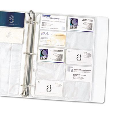 Business Card Binder Pages