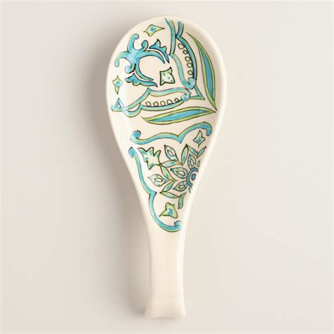 Ceramic Spoon pacifica painted ceramic spoon rest world market