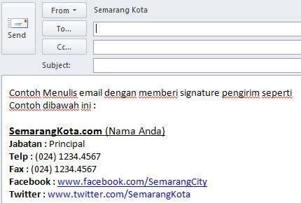 membuat alamat email perusahaan cara membuat signature di outlook 2010