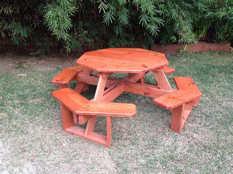 octagonal picnic table picnic tables nola woodworks