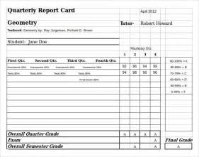 Student Grade Report Template by Sle Homeschool Report Card 5 Documents In Pdf Word