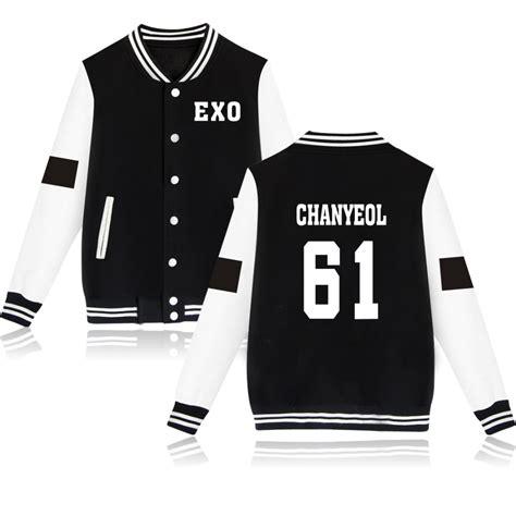 Tshirt Baju Kaos Kpop Exo baju exo exo baseball jackets kpop