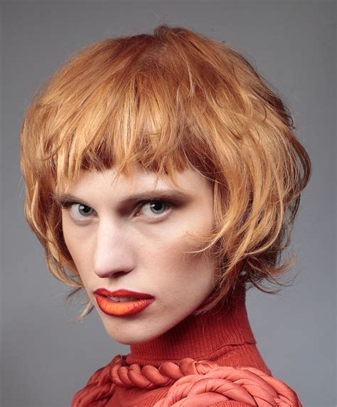 loreal short hairstyles of the 80 a short red hairstyle from the loreal colour trophy 2014