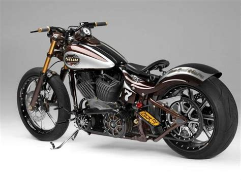 Knalpot Custom Harley Ss h d softail becomes slim racing by ss c autoevolution