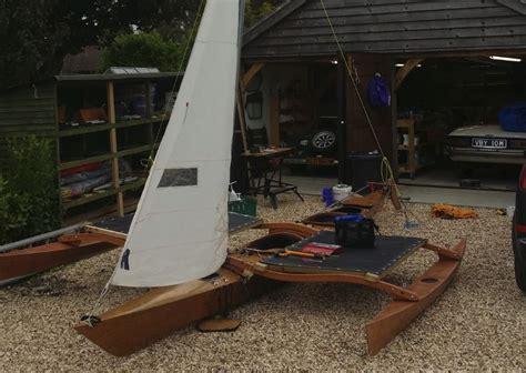 clc boats trimaran clc sport tandem with sailrig mk3 project under testing