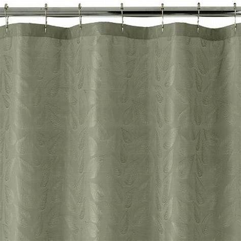 green fabric shower curtain croft barrow kendall fabric shower curtain sage green
