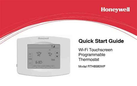 Honeywell WiFi Thermostat RTH8580WF Manual   Tom's Tek Stop