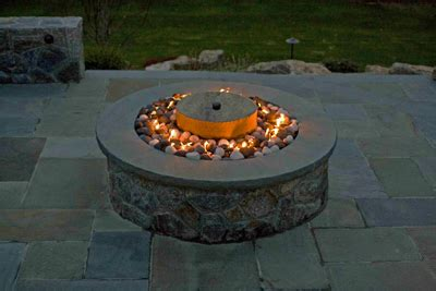 propane pits with glass rocks fireplace and pit glass