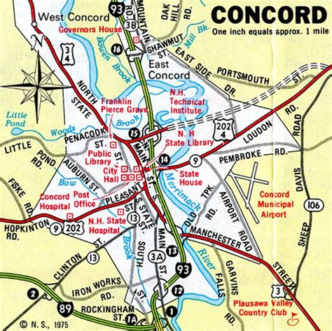 concord nh map new hshire aaroads interstate 393