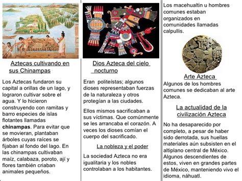 acerca de la conquista 8416160546 triptico aztecas
