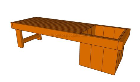 how to build a bench planter bench plans howtospecialist how to build step
