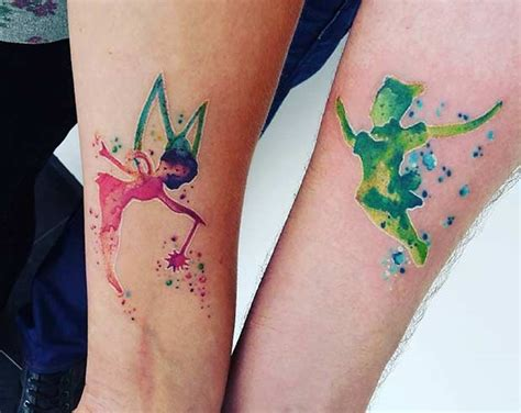 watercolor tattoos for couples 25 disney tattoos that are beyond