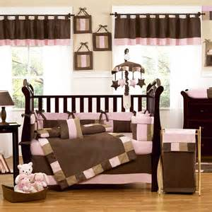 Brown and pink baby room pink and chocolate brown crib bedding ideas