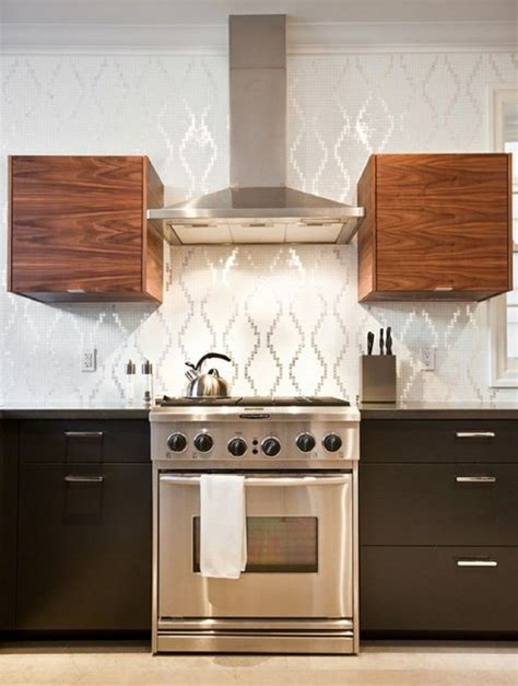wallpaper backsplash kitchens pinterest