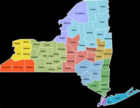 new york counties map map of new york counties free printable maps