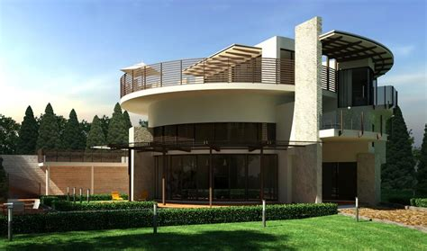 Elegant Modern House Design Green Garden Round Style Architecture Advice For Your