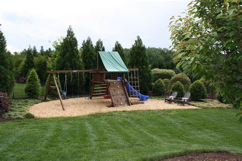 backyard swing set landscaping outdoor furniture design