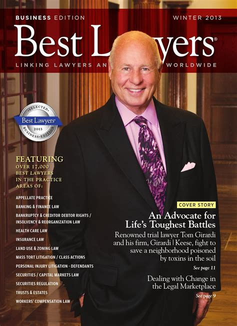 tom jackson from dallas georgia 2013 winter business edition by best lawyers by best