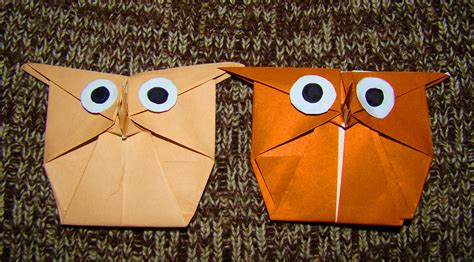 How To Make Paper Owls - origami maniacs origami owl