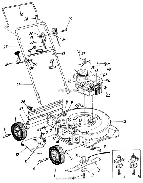mtd mower parts diagram mtd lawnflite mdl 051c parts diagram for parts