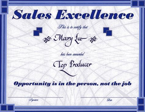 sales certificate template best photos of sales award template sales award