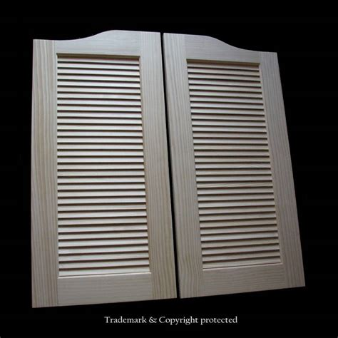 louvered swinging doors large pine cafe doors louvered 3 4 wood 40 quot swinging