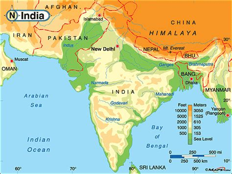 south asia physical map south asia physical maps free printable maps