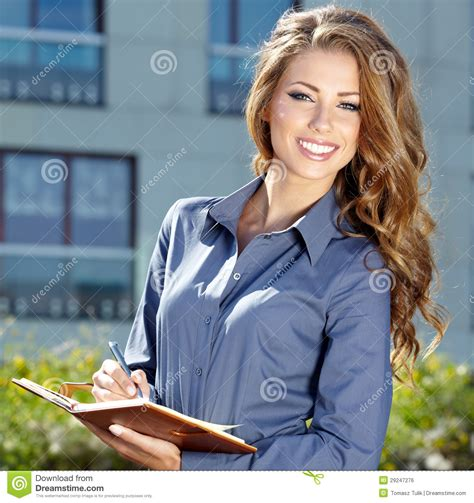 female real estate agents attractive real estate agent woman stock photo image