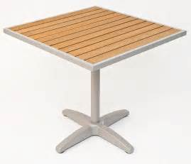 Outdoor Table Tops 24 Square Synthetic Teak Outdoor Table Top With Silver