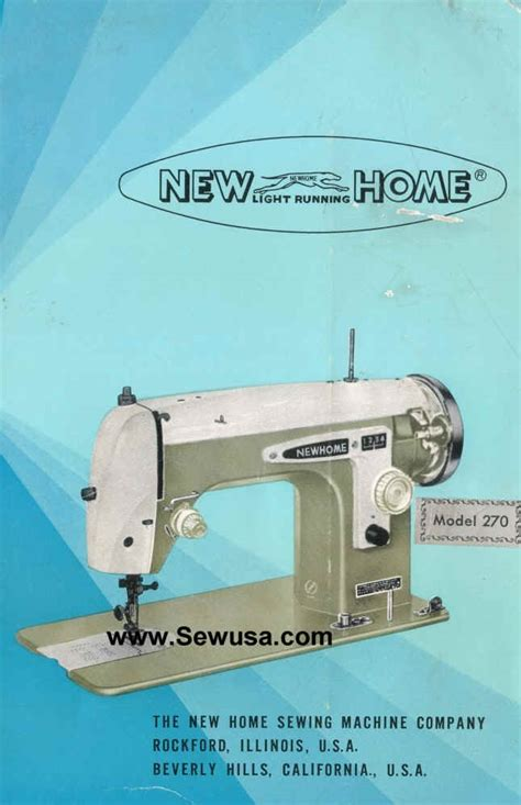 new home model 270 sewing machine manual