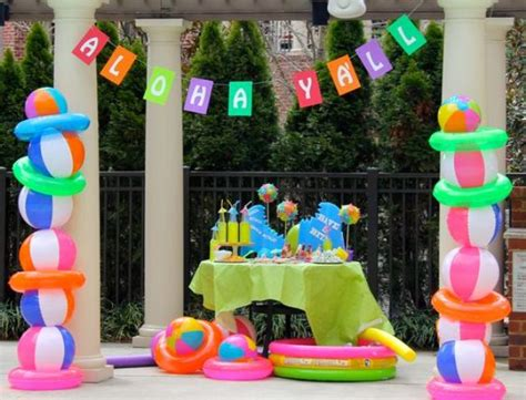 pool party decorations 23 colorful kid s pool party decorations shelterness
