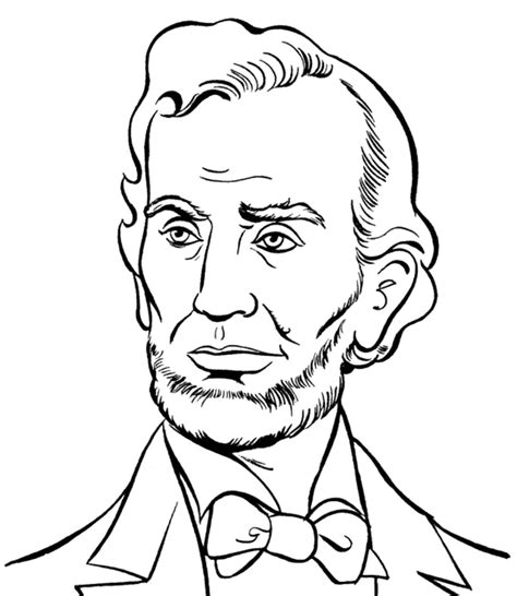 abraham lincoln presidents day coloring pages abraham