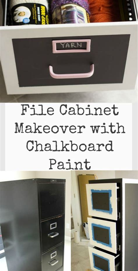 chalkboard paint metal metals file cabinet makeovers and paint on