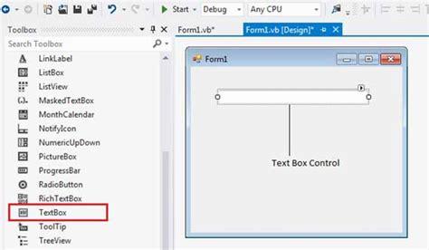 tutorialspoint visual basic vb net textbox control