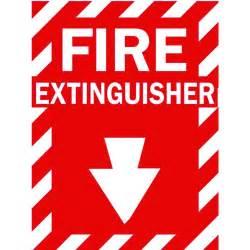 Brady 14 in x 10 in fiberglass fire extinguisher sign 69074 the