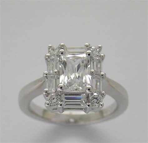 ring settings emerald cut ring settings antique