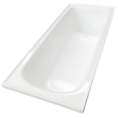 estilo 1675 x 700 x 420mm white acrylic bath tub