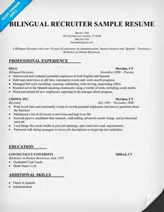 Remote Recruiter Sle Resume by Resume Format Resume Sles Bilingual