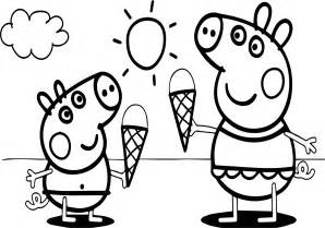 peppa pig video free coloring page wecoloringpage