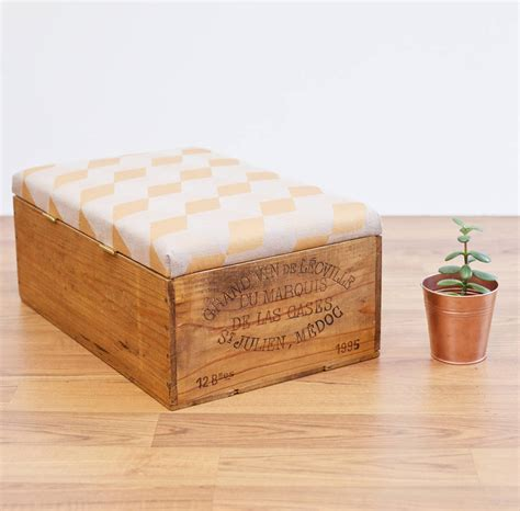 upcycle ottoman upcycled wine crate ottoman by made anew