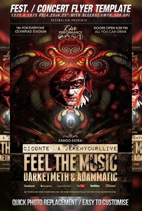 20 Concert Poster Flyer Templates Blogoftheworld Concert Flyer Template