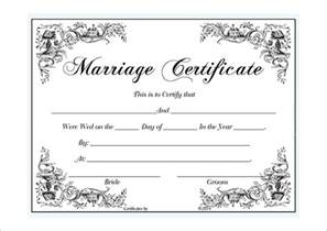 marriage certificate template microsoft word blank certificate template studio design gallery