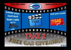 Fund Your Dreams Giveaway - loans take 2 free gas giveaway ends tomorrow tva community credit union