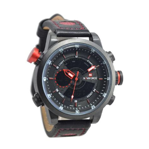 Jam Tangan Pria Naviforce Nf 9076 Date Leather Black Grey Original harga naviforce nf9076m jam tangan pria leather