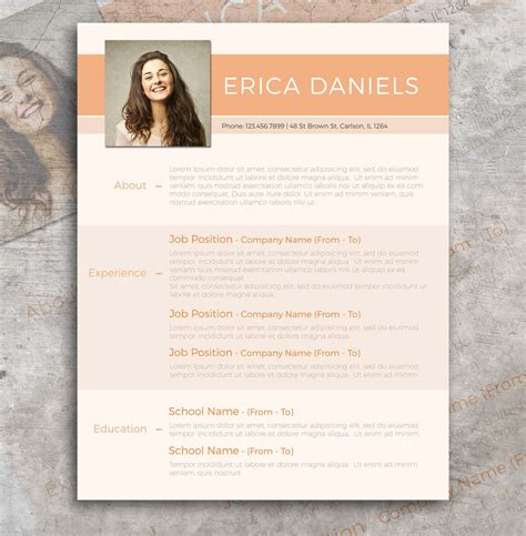 Modern Cv Template Free by Free Modern Resume Template Free Design Resources