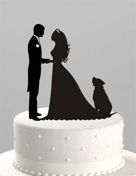 hochzeitstorte topper wedding cake topper silhouette groom and with